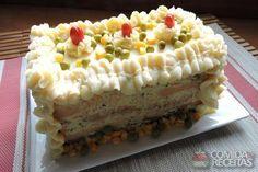 Receita de Torta fria de frango especial