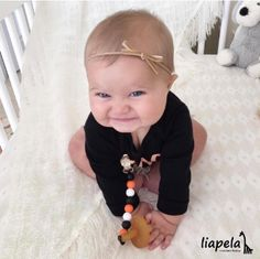 Can Halloween get any cuter than this? 🎃👻Silicone Pacifier clip US$9.99 Like on Instagram @LiapelaModernBaby
