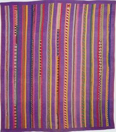 Seminole Strip Quilt, 1940. Florida.