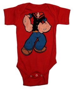 Amazon.com: Popeye The Sailor Kid Classic Cartoon Baby Creeper Romper Snapsuit: Clothing