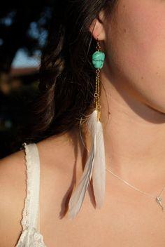 Feather earrings!