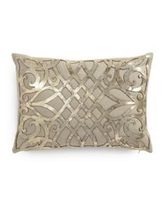 Callisto Home Charlotte Laser-Cut Leather Overlay Linen Pillow                                                                                                                                                      More