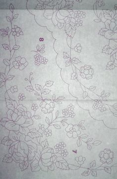 Gallery.ru / Фото #50 - РАКАМ 2003/3 - Olenka74 Floral Embroidery Patterns, Folk Embroidery, White Embroidery, Lace Patterns, Hand Embroidery Designs, Vintage Embroidery, Flower Patterns, Cross Stitch Embroidery, Stitch Patterns