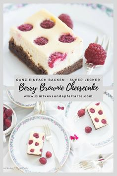 Simple and delicious recipe for Berry Brownie Cheesecake - Lecker Essen & Rezepte - Kuchen Chocolate Chip Cookie, Chocolate Cake Recipe Easy, Chocolate Cookie Recipes, Easy Cookie Recipes, Dessert Recipes, Healthy Recipes, Brownie Recipes, Cheesecake Brownies, Baked Cheesecake Recipe