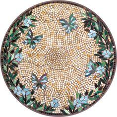 Neille Olson Caramel Butterfly Fine Mosaic Tabletops