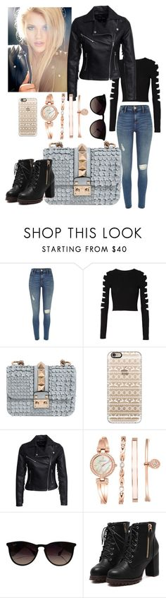 """""""Untitled #9"""" by celaenawestfall ❤ liked on Polyvore featuring River Island, Cushnie Et Ochs, Valentino, Casetify, New Look, Anne Klein and Ray-Ban"""