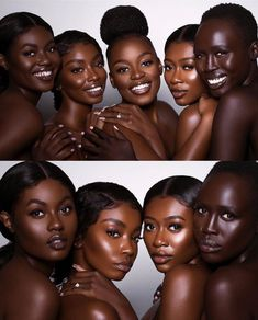 Tumblr is a place to express yourself, discover yourself, and bond over the stuff you love. It's where your interests connect you with your people. Beautiful Dark Skinned Women, Beautiful Black Girl, Pretty Black Girls, Black Girl Art, Black Women Art, Black Art, Dark Skin Makeup, Dark Skin Beauty, Black Beauty