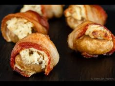 An easy, delicious appetizer that can be made ahead - creamy, cheesy, crab stuffed mushrooms are wrapped in bacon for the perfect appetizer! (with video)