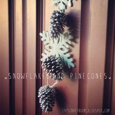 Snowflakes and Pinecones