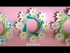 62 super ideas for origami star wreath paper flowers Origami Wreath, Origami Owl Necklace, Kids Origami, Origami Envelope, Origami Decoration, Origami And Kirigami, Origami Fish, Useful Origami, Origami Stars