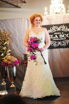 The runway show is always so much fun at the Goei Center's bridal show.  Flowers provided by Eastern Floral.