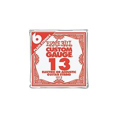 Ernie Ball Nickel Plain Single Guitar String 013 Gauge 6Pack *** Check this awesome product by going to the link at the image.(It is Amazon affiliate link) #cute