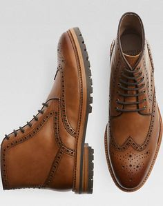 968de686719 Warfield   Grand Colby Tan Wingtip Ankle Boot - Men s Shoes