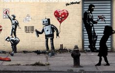 Animated GIFs of Banksy art