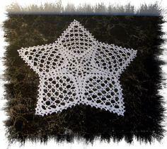 New Crochet Doily White Star Centerpiece  Crochet by MyFlowerZone, $16.00