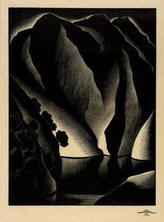 Paul Landacre (USA 1892-1953) Tuonela (1934) wood engraving