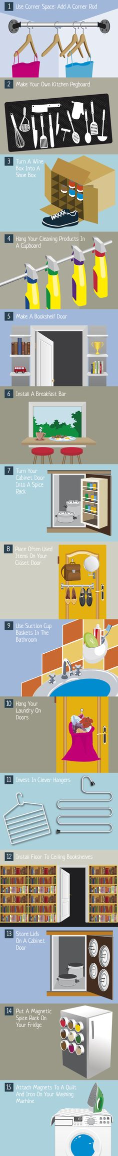 15 Small Space Life Hacks