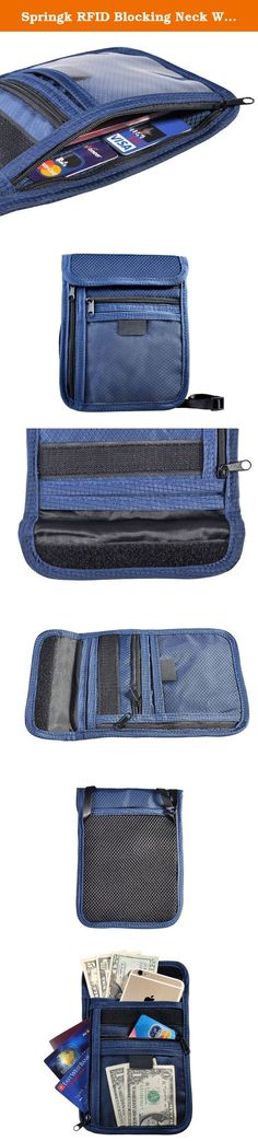 Springk RFID Blocking Neck Wallet for Security - Thin Hidden Pack with Multiple Compartments for Passports Cell Phones Credit Cards ID and Cash - Concealed Travel Pouch for Women and Men (navy blue). RFID (Radio Frequency Identification) chips are used in passports and credit cards to allow their owners to bypass the normal requirements of scanning or checking in. However, electronic identity thieves have undermined the security of RFID products by devising scanners that read your…