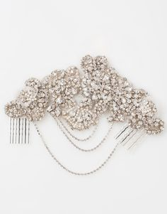 art deco inspired bridal hair accessory