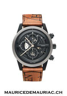 Stunning Swiss Made watch, by Maurice de Mauriac, Features Horween leather strap. #watchesformen