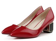 Find More Women's Pumps Information about Autumn new women's pointy 5.5cm low heels comfortable work high heels brand design good quality patent leather pumps,High Quality Women's Pumps from Toptrade Co.,ltd on Aliexpress.com