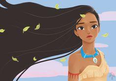 Walt Disney's 'Pocahontas'. illustrated by SSSinen