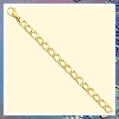 (This is an affiliate pin) 14k Yellow Gold 8.6mm Link Bracelet Chain Fancy H Men Fine Jewelry For Dad Mens Gifts For Him Gifts For Him, Gifts For Women, Fine Jewelry, Women Jewelry, Link Bracelets, Fancy, Chain, Yellow, Diamond