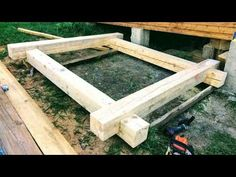Pat de lemn / wooden bed - YouTube
