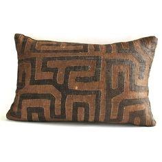 African Kuba Cloth Pillows