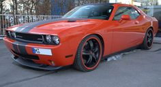 Dodge Challenger / Add a bit of Orange BeefCake to Your Life. Cool Sports Cars, Dodge Challenger, Dream Cars, Vehicles, Orange, Life, Car, Vehicle, Tools
