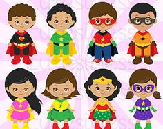 Super Hero Series 19 Digital Clipart : 35 Graphics  ----------------------- ★★ Package Included ★★-----------------------------------  *You will received a total of 35 Files in PNG Format with TRANSPARENT background, Size of 6~7 Inches at tallest/widest point of 300 DPI resolution.  *8 Main Characters * Background, Paper, and other supporting items as shown. * Watermark will not appear on Actual Products * FREE Small Commercial Use --------------------★★ INSTANT DOWNLOAD…