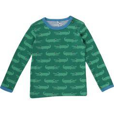 Kleine Jungs mögen es gefährlich und können sich für die Freds World Krokodile aus der Sommerkollektion 2016 begeistern. Das grüne Freds World Langarmshirt lässt sich vielseitig kombinieren: mit Jeans, Shorts oder Jogginghose. Egal wie, Jungs werden immer klasse aussehen in ihrem Freds World Outfit. Wie die gesamte Kinderkleidung von Green Cotton ist das Freds World Langarmshirt GOTS zertifiziert und damit ganz sanft zur empfindlichen Haut.  Erhältlich in mehreren Größen.