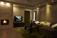 Contact to ceiling. False Ceiling Living Room, Living Room Modern, Living Rooms, My Dream Home, Home Interior Design, Home Projects, Sweet Home, House, Bedroom