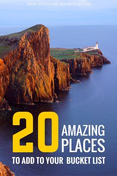 20 amazing experiences to add to your bucket list. Far flung places you have never heard of and amazing experiences some only dream off. Click and get the list.