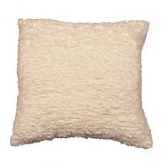 Sparkle Weave Fluffy Cushion in Ivory by CIMC