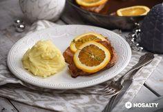 Narancsos-kakukkfüves sertéskaraj Kefir, Grapefruit, My Recipes, Pudding, Orange, Desserts, Food, Recipies, Tailgate Desserts