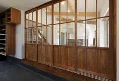 Interior Windows, Interior And Exterior, Partition Door, Muji Home, Wooden Sliding Doors, Japanese Modern, Restaurant Interior Design, Windows And Doors, Home Decor Inspiration