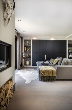 Interiordesign realisation by Hemels Wonen. Living Room Grey, Living Room Modern, Living Room Interior, Living Room Bedroom, Home Interior Design, Home And Living, Living Room Designs, Living Room Decor, Living Rooms