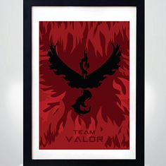 POKEMON GO Team VALOR   Wall Art Print  Poster by MixPosters