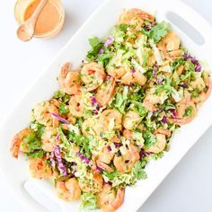 Bang Bang Shrimp With Napa Cabbage Slaw Recipe main-dish, sides, dairy free, low carb, nut free, New Year's, fathers day, memorial day, dinner, lunch, german with 14 ingredients Recommended by 1 users.
