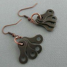 bicycle earrings Bike jewelry copper cycling by WanderingJeweler