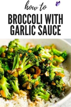 BROCCOLI WITH GARLIC SAUCE  <br> Whole30 Recipes Lunch, Rice Recipes For Dinner, Healthy Low Carb Recipes, Whole30 Pizza, Broccoli With Garlic Sauce, Broccoli Cauliflower, Broccoli Soup, Broccoli Chicken, Broccoli Lemon