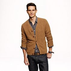 J.Crew - Wallace & Barnes wool cable-knit cardigan