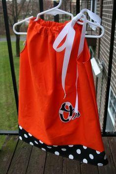 Baltimore Orioles Handmade PillowCase Dress. $25.00, via Etsy.