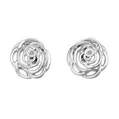 Hot Diamonds Eternal Rose sterling silver stud earrings DE351