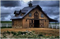 Stunning #horse barn - just needs a rustic sign from the NorthernHare.Etsy.com <3