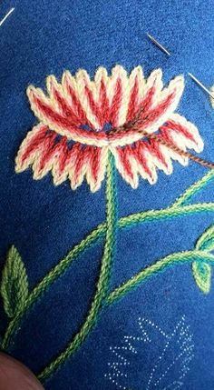 Crewel Embroidery, Needle And Thread, Norway, Sewing Crafts, Elsa, Textiles, Knitting, Motifs, Drawings