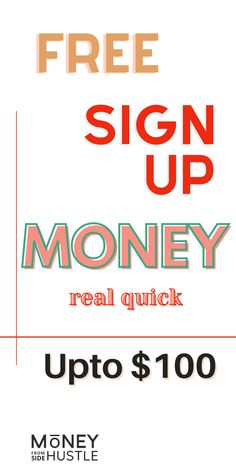 Earn Free Money, Make Money Fast Online, Quick Money, How To Make Money, Apps That Pay You, Making Extra Cash, Real Quick, Free Sign, Money Fast