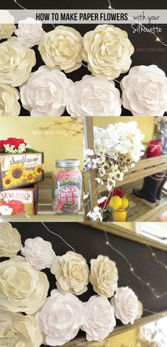 Project Tutorial: How to Make Paper Flowers with your Silhouette Cameo Paper Flower Wreaths, Tissue Paper Flowers, Flower Crafts, Crafts For Teens To Make, Diy And Crafts, Paper Crafts, Canvas Crafts, Papel Tissue, How To Make Paper Flowers