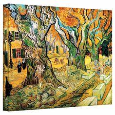 The Road Menders by Vincent Van Gogh Canvas Print